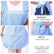 apron Rose, Fuchsia, coffee, light blue, Navy, rose + sleeve, fuchsia + sleeve, coffee + sleeve, light blue + sleeve, Navy + sleeve Sleeveless apron antifouling Korean version other Personal washing / cleaning / care Average size public like a breath of fresh air