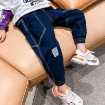 trousers Trendy products in small class male 110cm 120cm 130cm 140cm 150cm 160cm navy blue spring and autumn trousers leisure time There are models in the real shooting Casual pants Leather belt middle-waisted cotton Don't open the crotch Other 100% Class B Spring 2021 Chinese Mainland