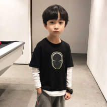T-shirt 110cm 120cm 130cm 140cm 150cm 160cm 170cm male spring and autumn Long sleeves Crew neck Hip hop There are models in the real shooting nothing cotton Cartoon animation Cotton 94.2% polyurethane elastic fiber (spandex) 5.8% Class B Sweat absorption Spring 2020 Chinese Mainland Zhejiang Province