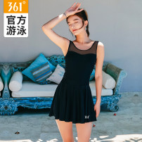 one piece  361° M L XL XXL XXXL 4XL Skirt one piece With chest pad without steel support Nylon spandex polyester SLY201124 Winter of 2019 female Sleeveless Casual swimsuit Solid color backless