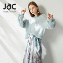 Wool knitwear Autumn of 2019 0/XS 2/S 4/M 6/L White cherry powder water mist green Long sleeves singleton  Socket wool 30% and below Regular Thin money commute easy Low crew neck bishop sleeve Solid color Socket Simplicity ZQ06386 30-34 years old JAC BY JACQUELINE CONOIR Hollow out asymmetry