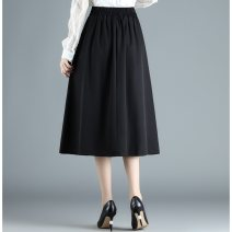 skirt Summer 2021 S,M,L,2XL Black spots on white background longuette commute High waist A-line skirt Decor Type A 25-29 years old bb10 More than 95% Chiffon other printing