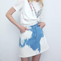 skirt Summer 2020 1/S/36,2/M/38,3/L/40,4/XL/42,5/XXL/44 blue Short skirt Rock and roll High waist A-line skirt Type A 25-29 years old B1KT32352 More than 95% Marisfrolg.su cotton
