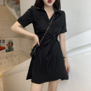 Dress Summer 2021 black S,M,L,XL,2XL Sweet Others 18-24 years old Other / other princess