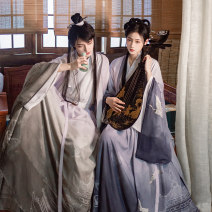 Hanfu 96% and above Spring 2020 The third batch of Gray will be delivered within 3 days, and the third batch of blue will be delivered within 3 days XS,S,M,L,XL polyester fiber