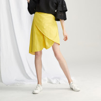 skirt Spring of 2019 XS S M L XL Yellow pink Short skirt Versatile High waist Irregular Solid color Type H 25-29 years old A183434205 More than 95% Pinli polyester fiber Polyester 96.2% polyurethane elastic fiber (spandex) 3.8% Pure e-commerce (online only)