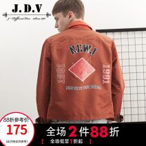 Jacket J.D.V Fashion City Deep Khaki 165/88B 170/92B 175/96B 180/100B 180/104B 185/108B routine standard Other leisure autumn Polyamide fiber (nylon) 100% Long sleeves Wear out Lapel tide youth routine Single breasted Straight hem Closing sleeve Color block Imitation fabric Fall 2017 Assembly