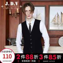 Vest / vest Business gentleman J.D.V 180/100A 185/104A 165/84A 170/88A 175/92A 180/96A black go to work Self cultivation Vest routine Four seasons V-neck youth 2017 Business Formal  SFV7002 Solid color Single breasted Slant hem wool Wool 94.6% polyester 5.4% tie-dyed Assembly silk floss Spring 2017