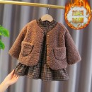 suit Yyxxbaby coffee 110cm 80cm 90cm 100cm female winter Korean version Long sleeve + skirt 2 pieces Plush No model Single breasted nothing Solid color cotton children Expression of love YYXXZkCgAPh other Other 100.00% Winter 2020 6 months 12 months 9 months 18 months 2 years 3 years 4 years old