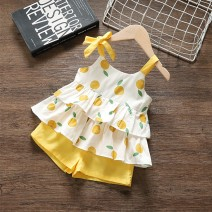 suit Yyxxbaby Light yellow 80cm 90cm 100cm 110cm female summer leisure time Sleeveless + pants 2 pieces Thin money No model Socket nothing Dot cotton children Expression of love YYXXZOnvKHG other Other 100.00% Summer 2021 9 months 12 months 18 months 2 years 3 years 4 years 5 years old