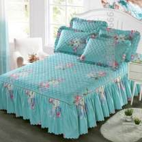 Bed skirt One pair of pillowcases for bed skirt 150x200, one pair for bed skirt 180x200, one pair for bed skirt 180x220, one pair for bed skirt 200x220 and one for bed skirt 120x200 cotton Other / other Plants and flowers