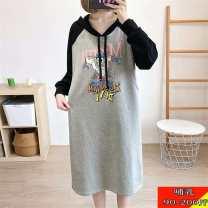 Home top See description Grey lactation [Chunqiu style], black lactation [Chunqiu style] L [90-120 Jin], XL [125-145 Jin], XXL [150-170 Jin], XXXL [170-200 Jin] Long sleeves Hood thickening leisure time spring and autumn Cartoon animation cotton pure cotton Socket 3953B