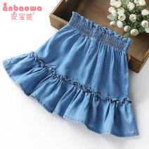 skirt 100cm 110cm 120cm 130cm 140cm blue An baowa female Cotton 95% polyurethane elastic fiber (spandex) 5% summer skirt Korean version Solid color Denim skirt cotton Class B Summer 2020