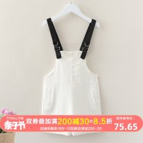 suit An baowa White suspenders blue suspenders white suspenders Suit Blue suspenders suit 110cm 120cm 130cm 140cm 150cm 160cm female summer Korean version Sleeveless + skirt 2 pieces routine No model Socket nothing stripe other children Expression of love abw2592 Class B Other 100% Summer 2021