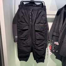 Casual pants Jiang Taiping and niaoxiang Fashion City black S,M,L,XL,2XL routine trousers Other leisure easy Micro bomb B1GLB1130 spring 2021 middle-waisted Solid color