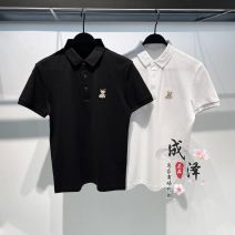 Polo shirt Jiang Taiping and niaoxiang other routine Black, white S,M,L,XL,2XL easy Other leisure summer Short sleeve B1DBB2325 tide 2021 Solid color washing