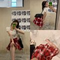 skirt Summer 2020 S M L Red Navy Short skirt Natural waist 18-24 years old QFC20041020 More than 95% Mrs. Qian other Other 100%