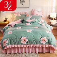 Bedding Set / four piece set / multi piece set Others Embroidery Others See description Other / other Others 4 pieces See description Bed skirt Qualified products Princess style other digital printing