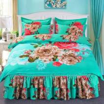 Bedding Set / four piece set / multi piece set Others Embroidery Others See description Other / other Others 4 pieces See description 4-piece 1.5 * 2.0m bed, 4-piece 1.8 * 2.0m bed and 4-piece 2.0 * 2.2m bed Bed skirt Princess style