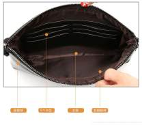 Men's bag clutch bag PU Other / other Brown small-p3j, black large-85j, black small-icz brand new leisure time leisure time zipper in Zipper bag, ID bag other youth Horizontal square polyester fiber FA0D85040 Soft handle Inner patch pocket 8 inches soft surface hold in the hand