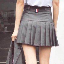 skirt Spring 2021 0 / XS (80-95 kg), 1 / S (100-108 kg), 2 / M (108-118 kg), 3 / L (above 118 kg), 4 / XL (above 125 kg) Short skirt Versatile High waist Solid color THOM BRUN. wool