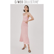 skirt Winter 2020 XXS XS S M L XL Pink longuette commute High waist A-line skirt stripe Type A 25-29 years old 102004177-630 81% (inclusive) - 90% (inclusive) C/meo Collective Viscose Simplicity Viscose fiber (viscose fiber) 89% polyurethane elastic fiber (spandex) 1% others 10%