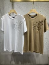 T-shirt White, camel S,M,L Summer 2020 Long sleeves Crew neck easy Regular routine cotton 96% and above Solid color