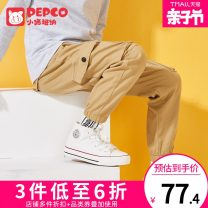 trousers Pepco / Piggy banner male 110cm 120cm 130cm 140cm 150cm 160cm 170cm spring and autumn trousers leisure time There are models in the real shooting Casual pants zipper middle-waisted cotton Don't open the crotch Cotton 97% polyurethane elastic fiber (spandex) 3% Class B Autumn of 2019