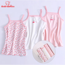 Vest sling camisole 90 100 110 120 130 140 150 160 summer Baby on kiss female No model lady Broken flowers Crew neck nothing Pure cotton (95% and above) Cotton 95% polyurethane elastic fiber (spandex) 5% SY/86436/86435/86437 Class A Summer 2020