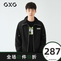 Jacket GXG Youth fashion black 165/S 170/M 175/L 180/XL 185/XXL 190/XXXL routine standard Other leisure spring GY121610A Polyester 100% Long sleeves Wear out Lapel Youthful vigor youth routine Zipper placket Rib hem Closing sleeve other polyester fiber Spring 2020 polyester fiber More than 95%