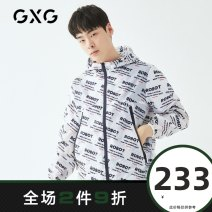 Jacket GXG Youth fashion white 190/XXXL 170/M 175/L 180/XL 185/XXL 165/S routine standard Other leisure spring GY121767A Polyester 100% Long sleeves Wear out Hood Youthful vigor youth routine Zipper placket other Closing sleeve other polyester fiber Spring of 2019 polyester fiber