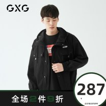 Jacket GXG Youth fashion black 165/S 170/M 175/L 180/XL 185/XXL 190/XXXL routine standard Other leisure spring GY121613A Polyester 100% Long sleeves Wear out Hood Youthful vigor youth routine Zipper placket Rib hem Closing sleeve other polyester fiber Spring 2020 polyester fiber More than 95%