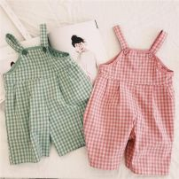 trousers Other / other female 80cm,90cm,100cm,110cm,120cm,130cm Green, pink summer Cropped Trousers rompers cotton 12 months, 18 months, 2 years old, 3 years old, 4 years old, 5 years old, 6 years old