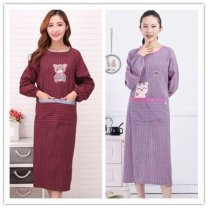 apron Sleeve apron antifouling Korean version Household cleaning One size fits all F20399 public pure cotton Other brands