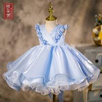 Children's dress female Madonna full dress Class B Polyester 100% Spring 2021 3 months, 6 months, 12 months princess