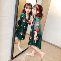 Home skirt / Nightgown Polyester 95% polyurethane elastic fiber (spandex) 5% summer female 3-5 years old 5-7 years old 7-9 years old 9-11 years old Home Class B other DQ200334 Spring 2020