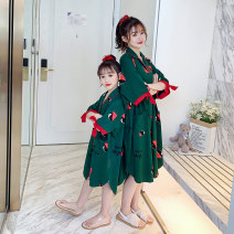 Home skirt / Nightgown Cotton 100% summer female 3-5 years old 5-7 years old 7-9 years old 9-11 years old Home Class B cotton Summer 2020