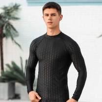 Men's swimsuit Other 62501 + 51901 men's swimsuit 2-piece set, 62501 long sleeve top, 51901 Capri Pants L,XL,XXL,XXXL,XXXXL Long swimming trunks 62501 + 51901 men's 9-point swimsuit 2-piece set Spandex, polyester