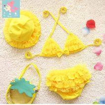 Children's swimsuit / pants Pu Huanxin XS (12-18 kg) s (18-25 kg) m (25-32 kg) l (32-40 kg) XL (40-50 kg) 2XL (50-60 kg) 3XL (60-70 kg) Children's Bikini children's split swimsuit female nylon Summer of 2019