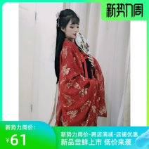 National costume / stage costume Summer 2021 S. M, l, XL, XXL (bust 100-110) 160-180kg, 4XL (bust 110-120) with big sleeves, 6xl (bust 120-130) with 240 kg, 8xl (bust 140) with 280kg Ten years of Jiangnan 81% (inclusive) - 90% (inclusive)