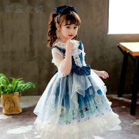 Dress Blue - little girl + inside, blue - little girl single skirt without inside, collection and purchase female Other / other Other 100% No season Lolita Skirt / vest Cartoon animation other Cake skirt Class B