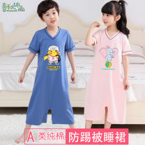 Home suit one piece Cotton 96% polyurethane elastic fiber (spandex) 4% Rain in spring and Autumn neutral E1901 summer cotton Class A Sweat absorption and moisture absorption at home Summer of 2019 Cartoon Chinese Mainland Guangdong Province Shenzhen City