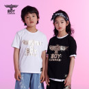 T-shirt Black and white BOY LONDON 110cm 120cm 130cm 140cm 150cm 160cm currency cotton Brand logo Cotton 100% J2122KC2050 Summer 2021 3 years old, 4 years old, 5 years old, 6 years old, 7 years old, 8 years old, 9 years old, 10 years old, 11 years old, 13 years old, 14 years old and above