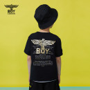 T-shirt black BOY LONDON 110cm 120cm 130cm 140cm 150cm 160cm neutral summer Short sleeve Crew neck cotton Brand logo Cotton 93.4% polyurethane elastic fiber (spandex) 6.6% J2123KC1027 Summer 2021