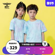 T-shirt blue BOY LONDON 110cm 120cm 130cm 140cm 150cm 160cm neutral Short sleeve There are models in the real shooting nothing cotton Brand logo Cotton 100% J2123KC1030 Spring 2021 Four, five, six, seven, eight, nine, ten, eleven, twelve