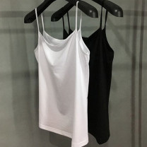 Vest sling Spring 2021 White flat collar, black flat collar, White V-Neck, black V-neck 2 / s, 3 / m, 4 / L, 5 / XL singleton  routine Self cultivation commute camisole Solid color 51% (inclusive) - 70% (inclusive) modal  5001-301016-1032012 Pretend to be amashizheng