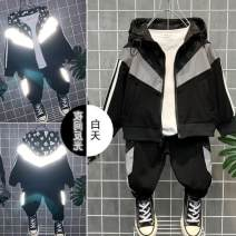 suit Other / other Black La, black wings The recommended height is 90cm for 90, 100cm for 100, 110cm for 110, 120cm for 120, 130cm for 130, 140cm for 140, 150cm for 150 and 160cm for 160 male spring and autumn college routine Class B Three months, six months