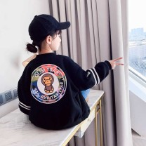 Plain coat Other / other female 160cm,130cm,120cm,150cm,140cm,110cm I89 black [spring and autumn] size regular racket spring and autumn Korean version Zipper shirt There are models in the real shooting routine nothing Cartoon animation Cotton blended fabric A2925 Cotton 100% Class B