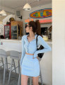Fashion suit Spring 2021 Average size Apricot, blue, black 18-25 years old Other / other polyester fiber