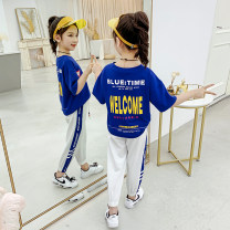 suit Other / other Blue, red 160cm,150cm,140cm,130cm,120cm,110cm female summer Korean version Short sleeve + pants 2 pieces Thin money There are models in the real shooting Socket nothing Solid color other children Expression of love ANE2101299 Class B Chinese Mainland Zhejiang Province Huzhou City
